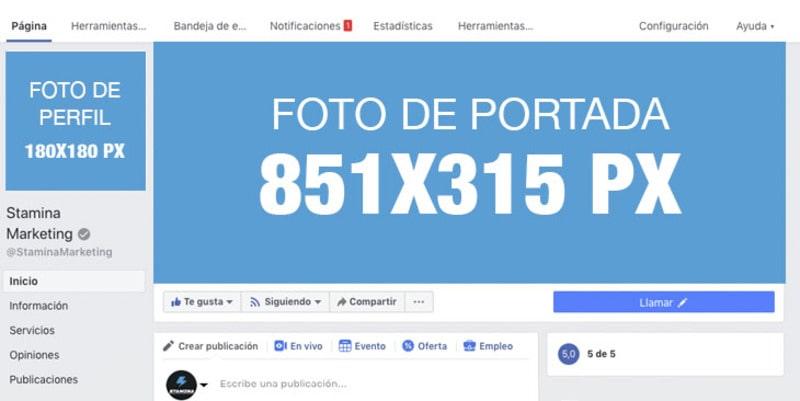 tamaño imagen perfil y cabecera de facebook