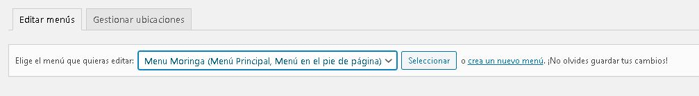 wordpress establecer pagina de inicio