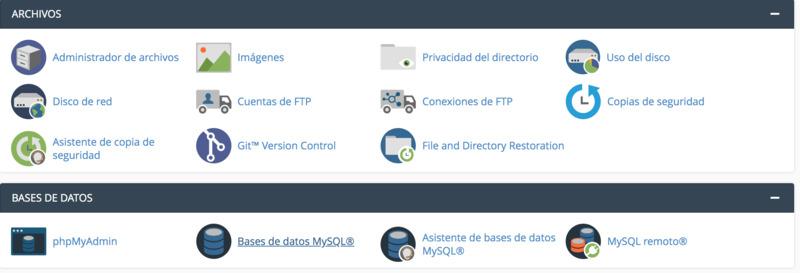 administrador de archivos al instalar wordpress en hosting