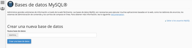 base de datos mysql wordpress hosting