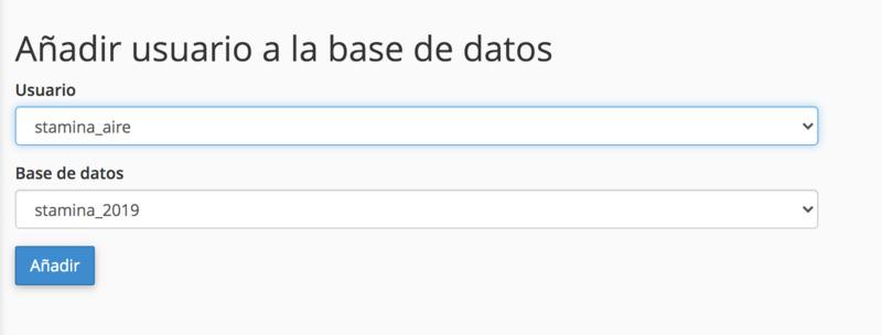usuario base de datos wordpress hosting
