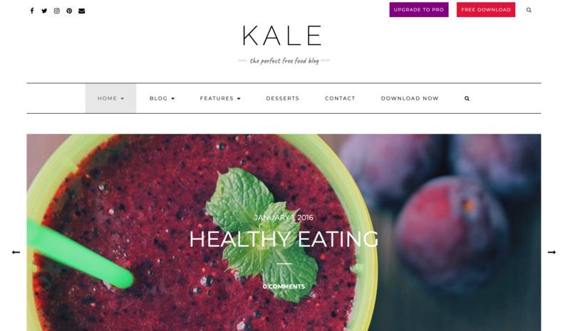 plantilla wordpress gratis kale