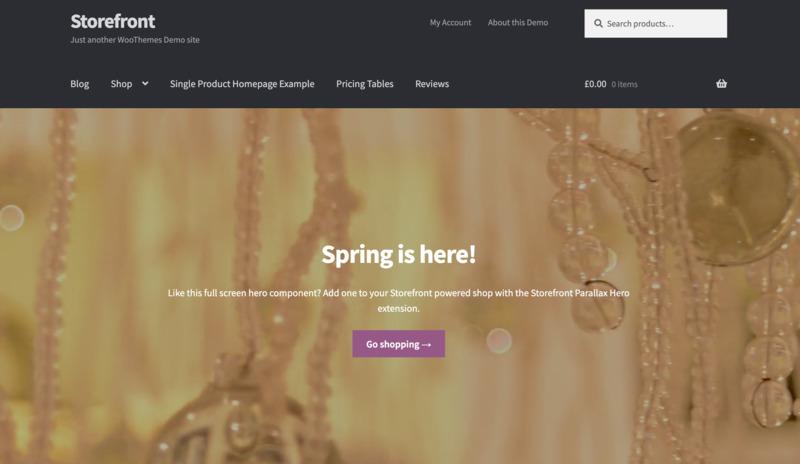 plantilla wordpress gratis storefront